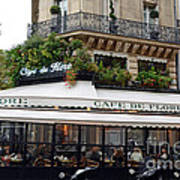 Paris Cafe De Flore - Paris Fine Art Cafe De Flore - Paris Famous Cafes And Street Cafe Scenes Poster