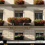 Paris Cartier Window Boxes - Paris Cartier Windows And Flower Boxes - Cartier Paris Building  Poster