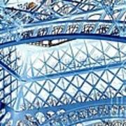 Paris Design In Blue Poster