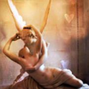 Paris Eros And Psyche Louvre Museum- Musee Du Louvre Angel Sculpture - Paris Angel Art Sculptures Poster