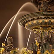 Paris Fountain Poster