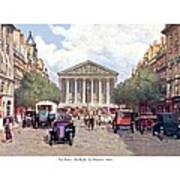 Paris France - The Rue Royal And The Madeleine - 1910 Poster