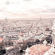 Paris From Above - View From Sacre Coeur Basilica Poster
