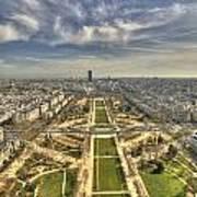Paris From Eiffeltower Poster