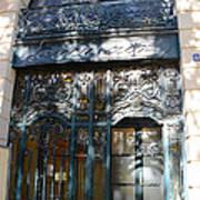 Paris Guerlain Storefront Boutique - Paris Guerlain Blue Door Art Nouveau Art Deco Door Poster