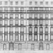 Paris Houses, 1841 Poster
