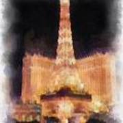 Paris Las Vegas Photo Art Poster