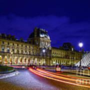 Paris Louvre Museum Poster