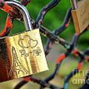 Paris Love Lock Poster