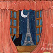 Paris Moonlight Poster
