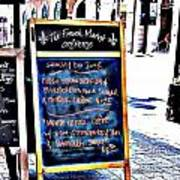 Paris Pastry Shop Poster