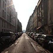 Paris Side Street Poster