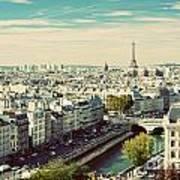 Paris Skyline France. Eiffel Tower Poster