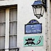 Paris Street Art - Space Invader Poster