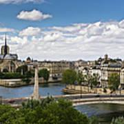 Paris View Notre Dame Poster