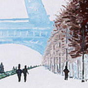 Paris Wintertime Poster by Kevin Croitz