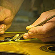 Parisian Luthier At Work Poster