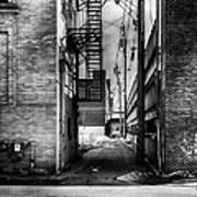 Park Alley Sunset Poster by Bob Orsillo