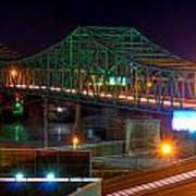Parkersburg Belpre Bridge Poster