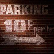 Parking Ten Cents Poster