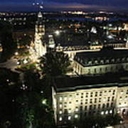 Parlament Quebec At Night  Poster