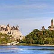Parliament Buildings And The Fairmont Poster