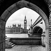 Parliament Through An Archway Poster