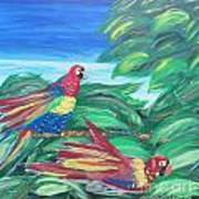 Parrots In Paradise Poster