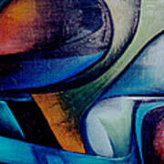 Part Of An Abstract Painting Poster