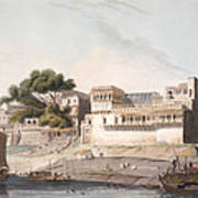 Part Of The City Of Patna, On The River Poster