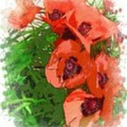 Partial To Poppies Poster