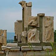 Partially Restored Fountain Of Trajan In Ephesus-turkey Poster