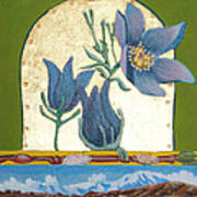 Pasque Flower In The Spring Poster by Amy Reisland-Speer