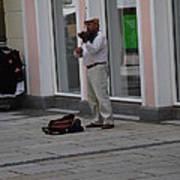 Passau Violinist Poster