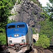 Passenger Train Locomotive Poster