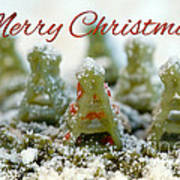 Pasta Christmas Trees With Text Poster