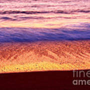 Pastel - Abstract Waves Rolling In During Sunset. Poster