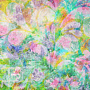 Pastel Flowers By Jan Marvin Poster