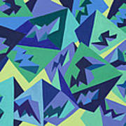 Pastel Pyramids Poster