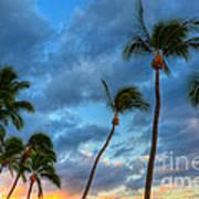 Pastel Tropical Sunrise Poster