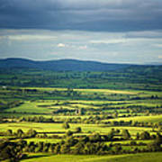 Pastoral Fields, Near Clonea, County Poster