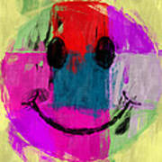 Patchwork Smiley Face Poster