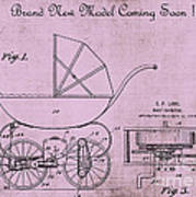 Patent Art Baby Carriage 1920 Lark Invite 4 Poster