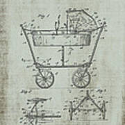 Patent Art Mahr Baby Carriage 1922 Green Poster
