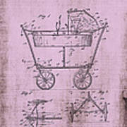 Patent Art Mahr Baby Carriage 1922 Pink Poster
