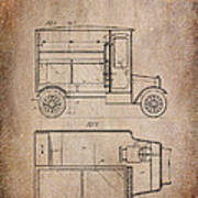 Patent Art Refrigerator Truck I Antique Poster