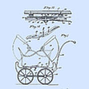 Patent Art Robinson Baby Carriage Blue Poster