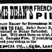 Patent Medicine, C1880 Poster
