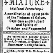 Patent Medicine: Opium Poster