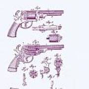 Patented Revolver In Purple Poster